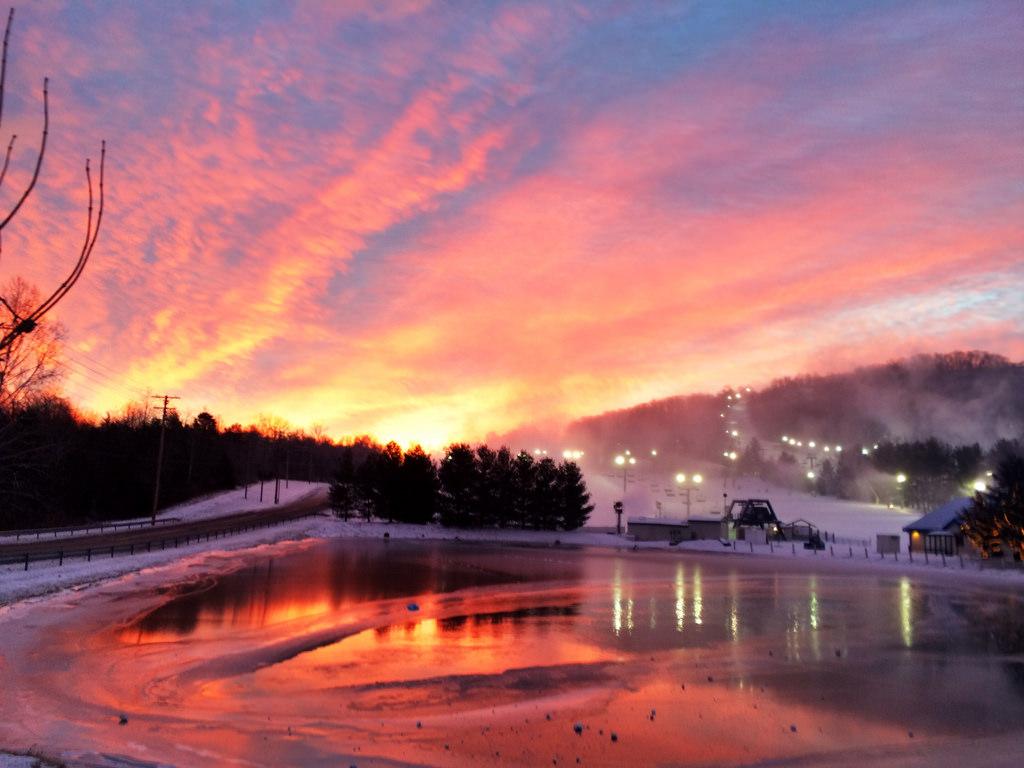 Sunrise at Liberty Mountain, PA, 11 January 2015